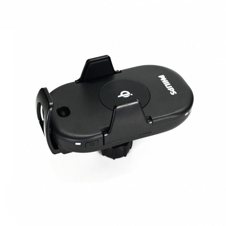Giá đỡ điện thoại tích hợp sạc không dây dùng cho xe hơi, ô tô cao cấp Philips nhập khẩu DLK9411N
