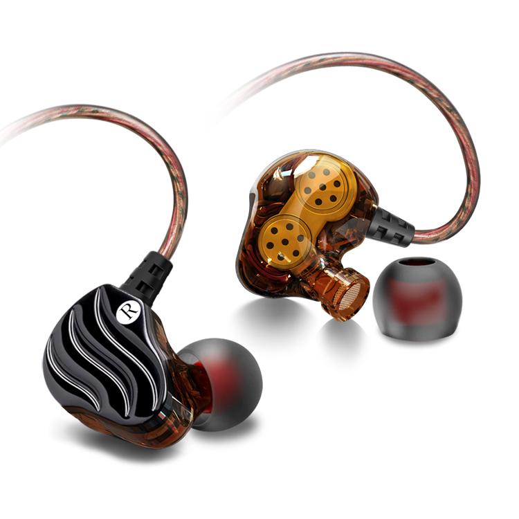 Tai nghe nhét tai có dây cao cấp chống ồn âm thanh vòm, có 4 loa cho âm thanh chân thực, tích hợp mic đàm thoại D1
