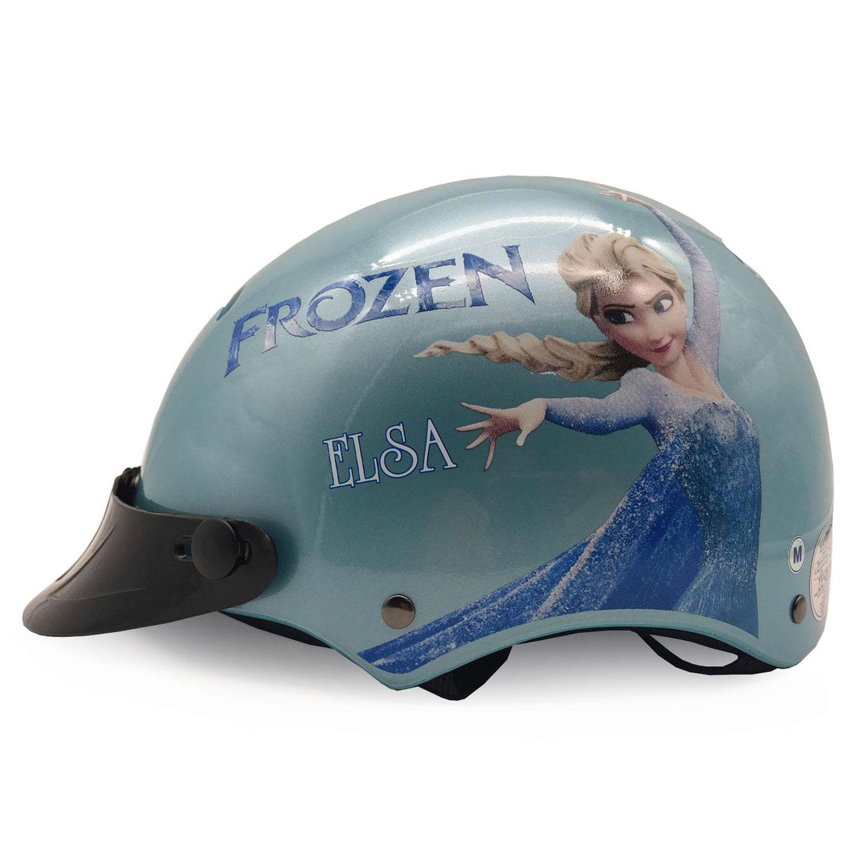 Mũ Bảo Hiểm Trẻ Em Nửa Đầu Protec Kitty Họa Tiết Nữ Hoàng Băng Giá Elsa, Cao Cấp, An Toàn, Siêu Thoáng Khí - Hàng Chính Hãng