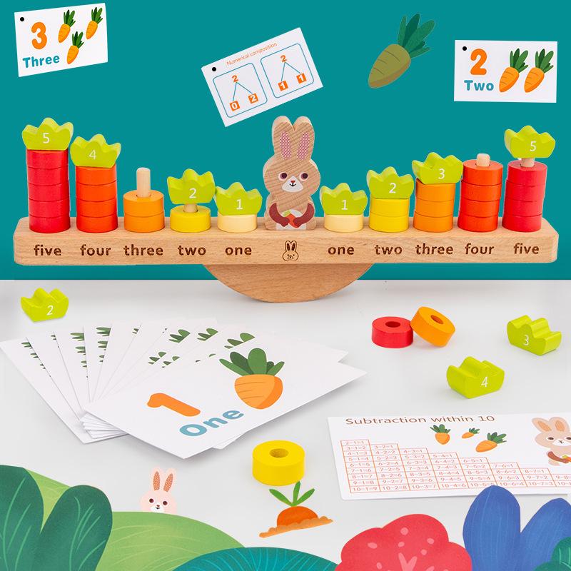 Đồ Chơi Cân Bằng Phát Triển Trí Não Cùng Thỏ ( Từ 2-4 tuổi)