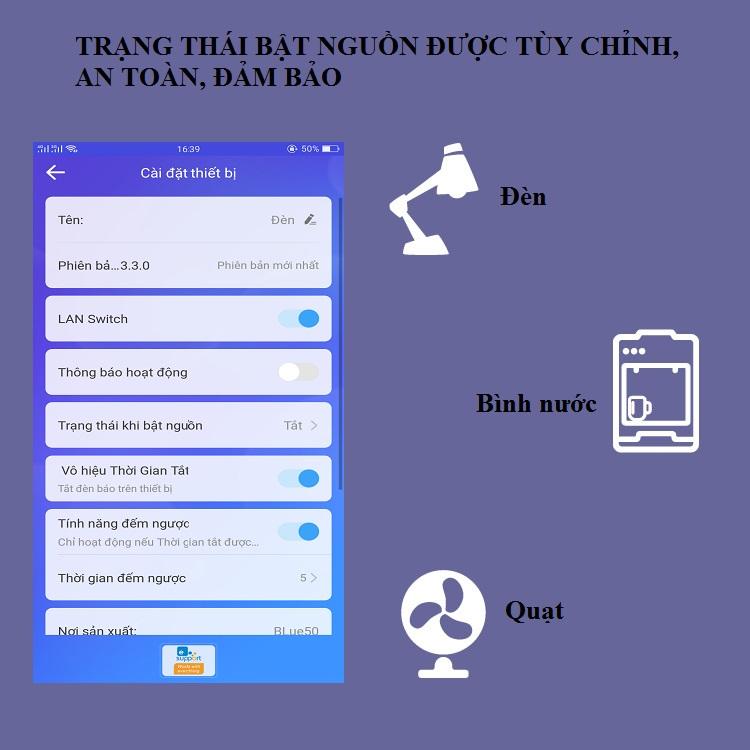 Công tắc điện điều khiển từ xa đa năng qua wifi SW01-10A ( Tặng kèm 01 móc khóa tua vít ba chức năng )