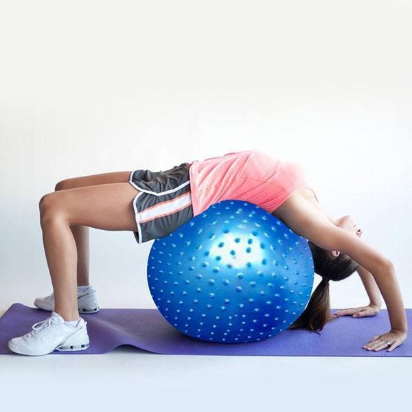 bóng tập gym,Bóng Tập Yoga Có Gai 75cm