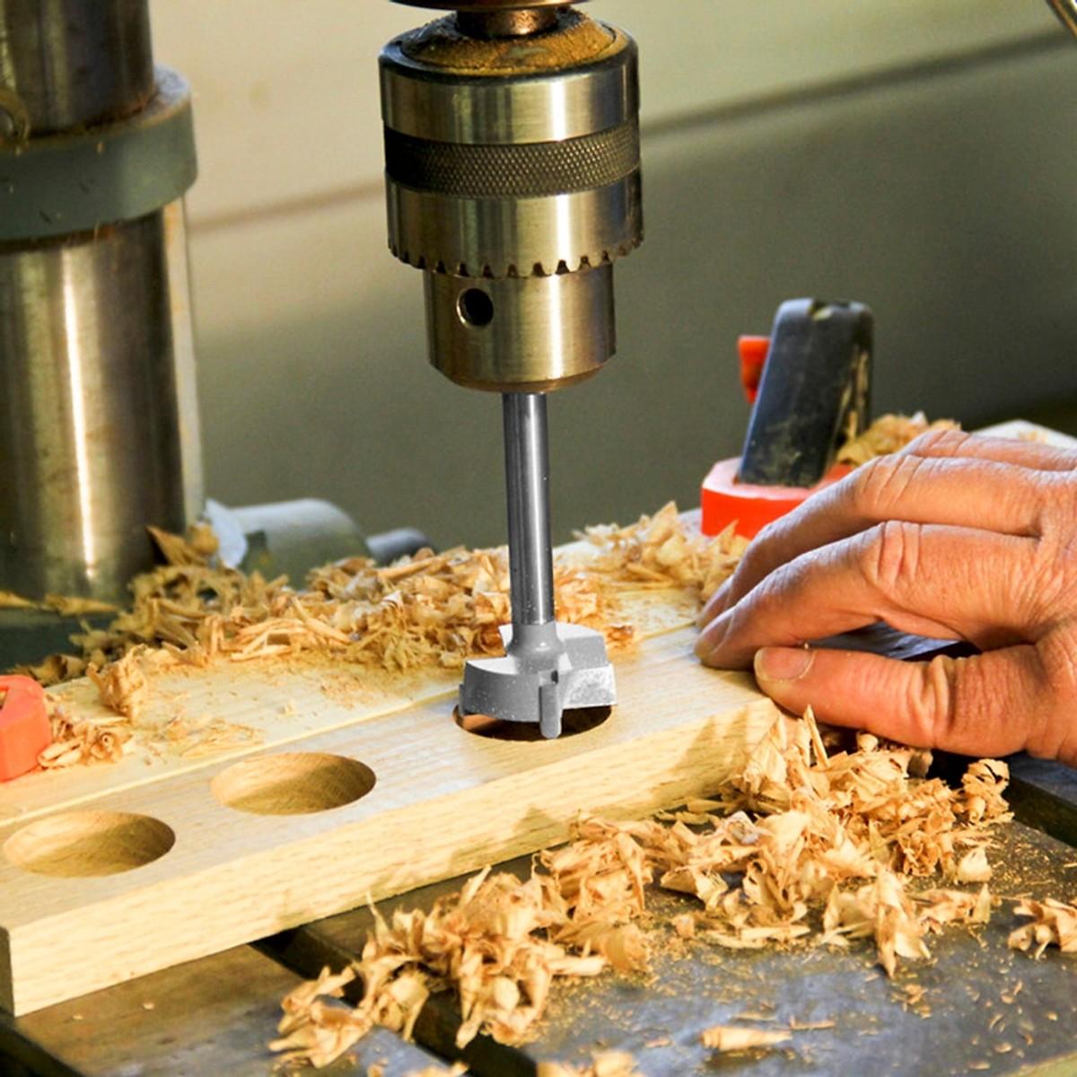 Bộ 5 mũi khoan đường kính từ 15-35mm khoét lỗ Canino gỗ,nhựa