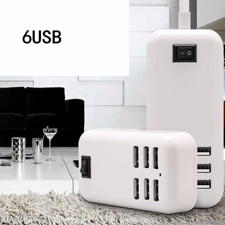 Bộ Sạc Điện Thoại 6 Cổng USB (20W)