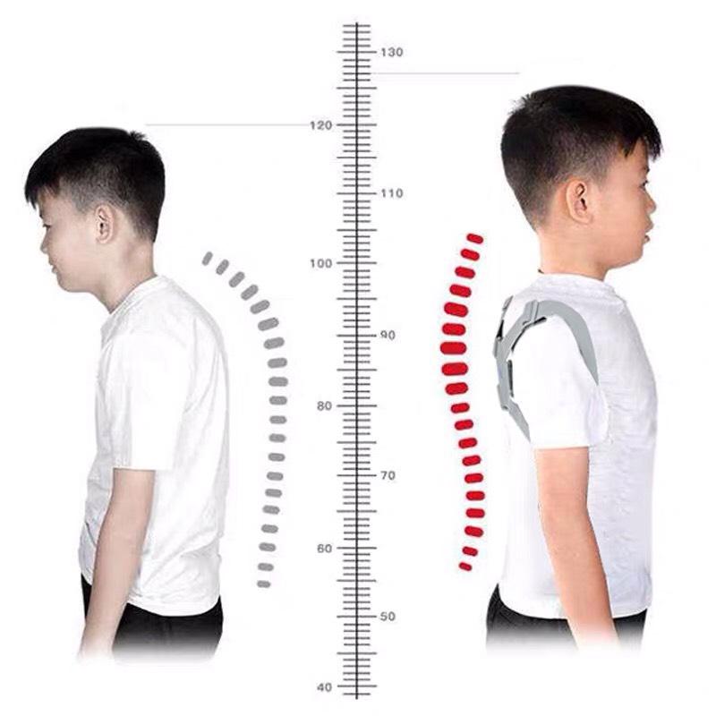 Đai gù thông minh cảm biến rung chống gù lưng khòm lưng cho trẻ em nam nữ nhỏ gọn  hình thành tư thế chuẩn