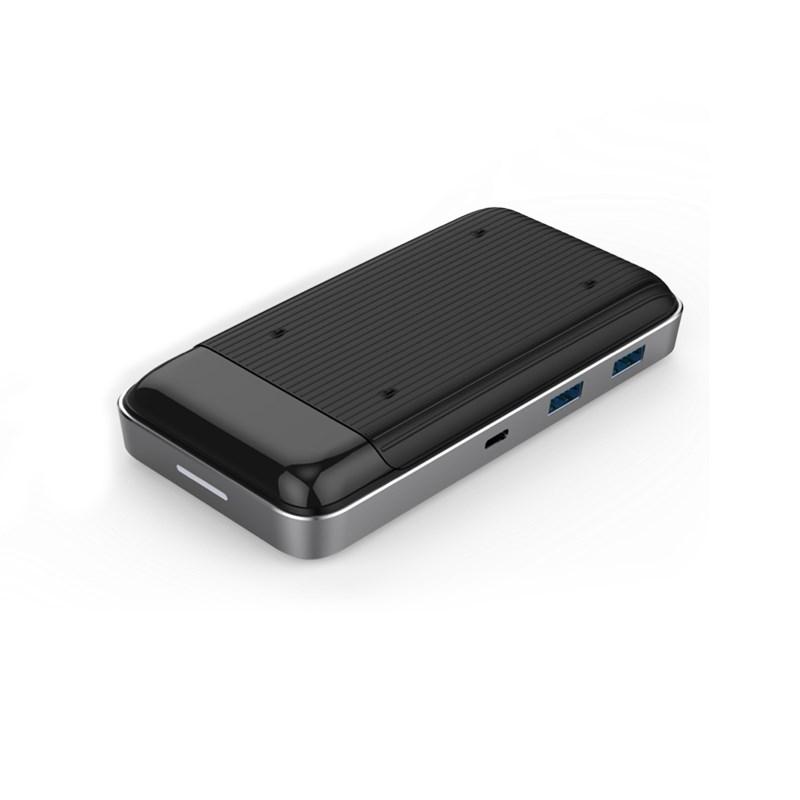 Cổng chuyển đa năng HyperDrive 7.5W Wireless Charger Usb-C Hub có hỗ trợ sạc không dây lên tới 15W (HD258B) - Hàng Chính Hãng