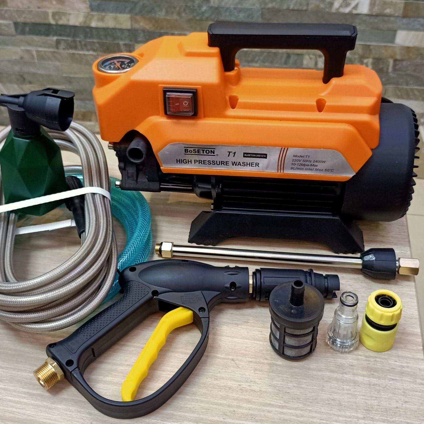 máy rửa xe gia đình mini T1 USA boseton - dòng máy khỏe 100% lõi đồng - Máy  xịt rửa