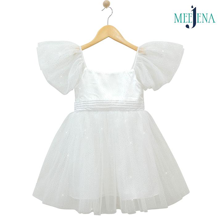 Đầm Bé Gái Công Chúa Lưới Satin Siêu Xinh - MEEJENA 11-34 kg - 1901