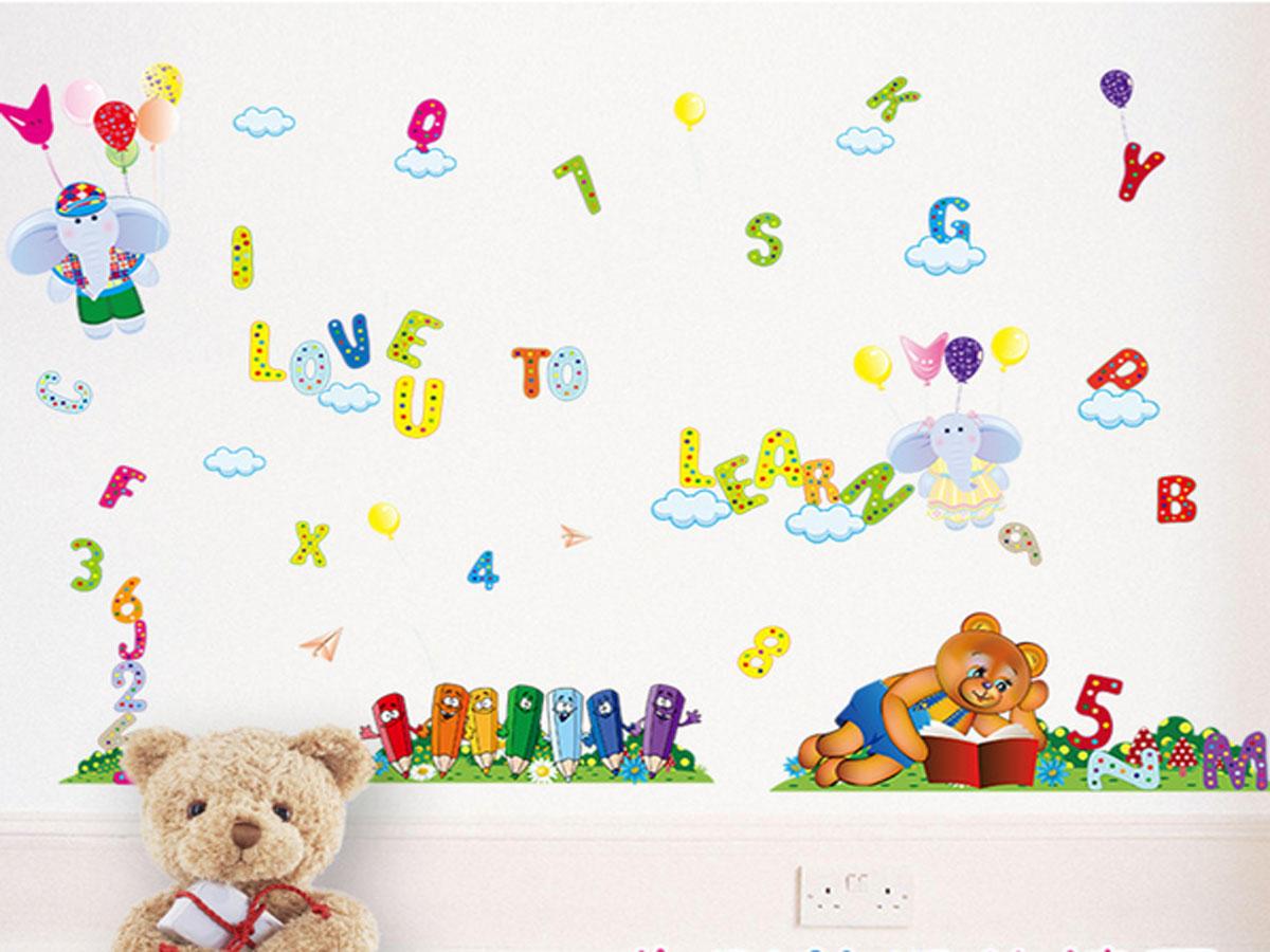 Decal dán tường cho bé bảng chữ cái sk9050