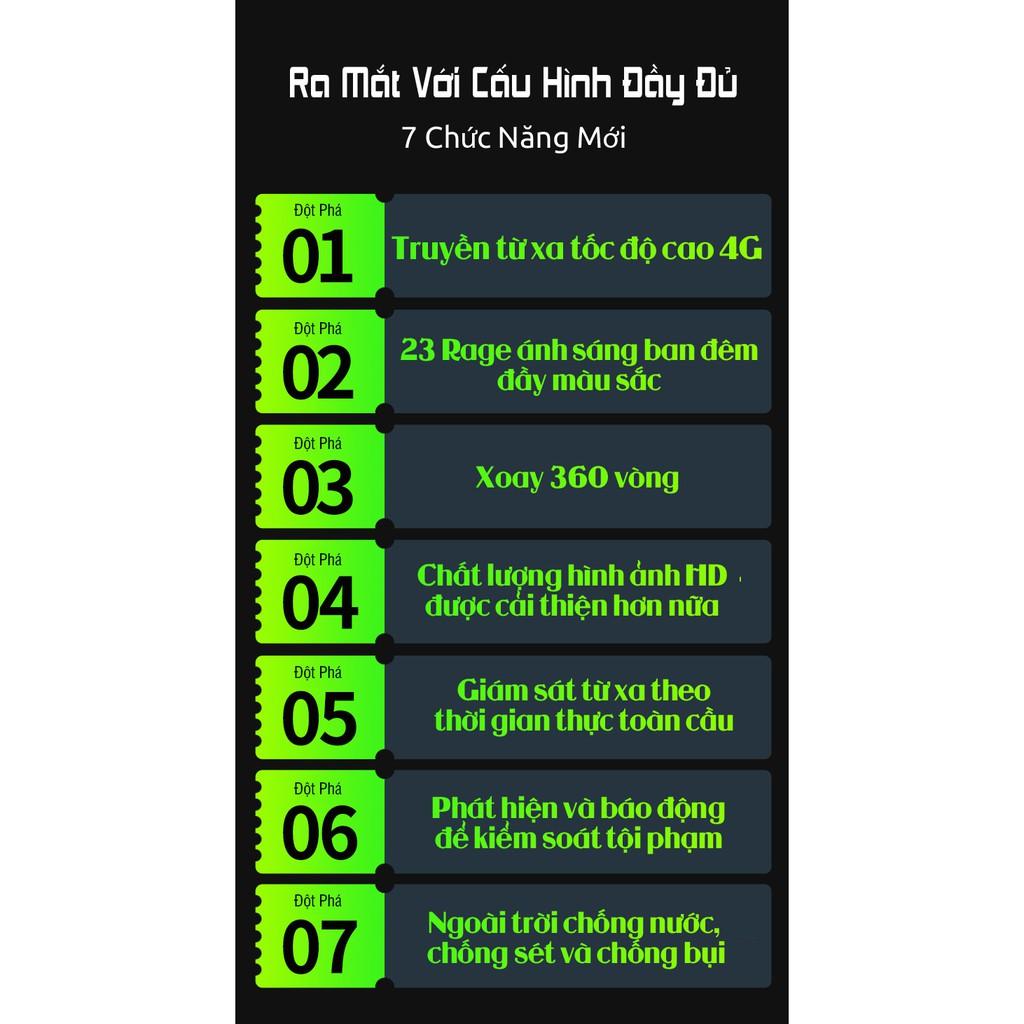 Camera Wifi Yoosee Ngoài Trời PTZ X3000 Xoay 355 độ 23 LED Xem Đêm Có Màu , Đàm Thoại 2 Chiều Rõ Lời , Sử Dụng Ngôn Ngữ Tiếng Việt , Cảnh Báo Đột Nhập Hú Còi Xanh Đỏ - Hàng Nhập Khẩu