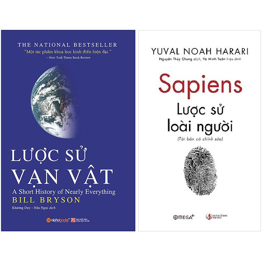 Combo 2 Cuốn Lược Sử Vạn Vật: Lược Sử Vạn Vật - Sapiens: Lược Sử Về Loài Người
