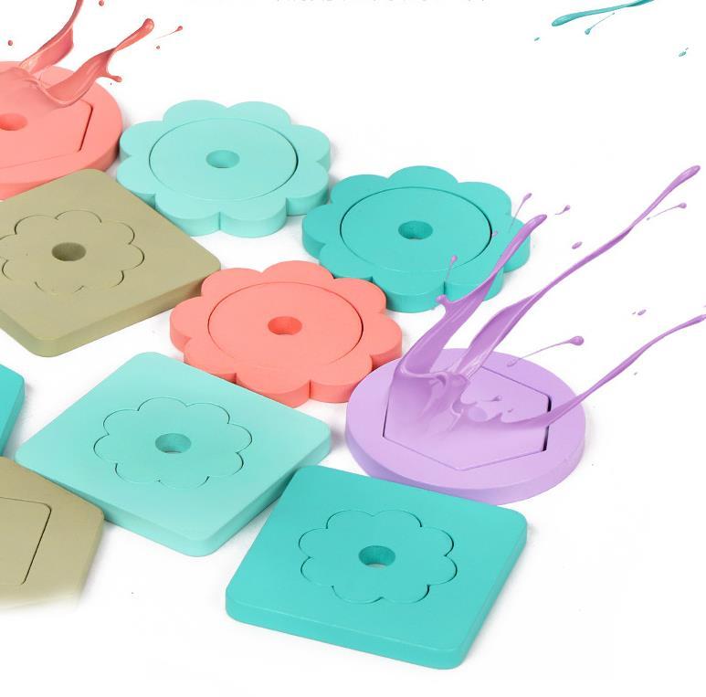 Bộ Đồ Chơi Xếp Hình Thả Khối Cột Màu Pastel Dễ Thương. Đồ Chơi Giáo Dục Sớm Cho Bé Từ 2 Tuổi ETED13FSN1661