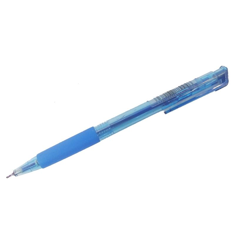 Bút Bi Dầu Đầu Bấm 0.7mm - M&G ABPY0802A - Mực Xanh - Thân Màu Xanh Trong