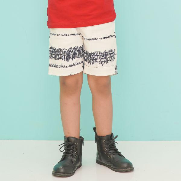 Quần Shorts Bé Trai Sọc Ugether UKID221 - Trắng 5 - 6 Tuổi