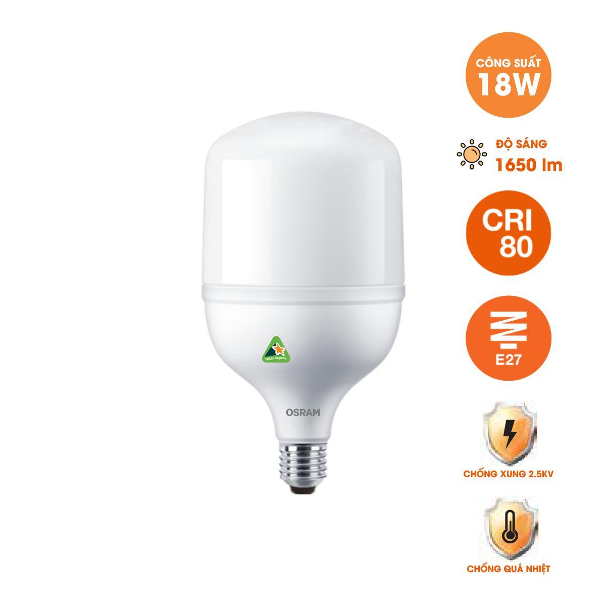 Bóng đèn LED trụ T-Bulb OSRAM E27 - Hiệu suất cao, chất lượng ánh sáng vượt trội