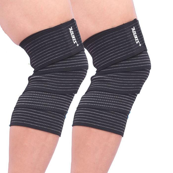 Bộ 2 Băng Quấn Hỗ Trợ Đầu Gối, Bảo Vệ Bắp Ống Chân Khi Chơi Thể Thao Sport Knee Support AOLIKES YE-1516