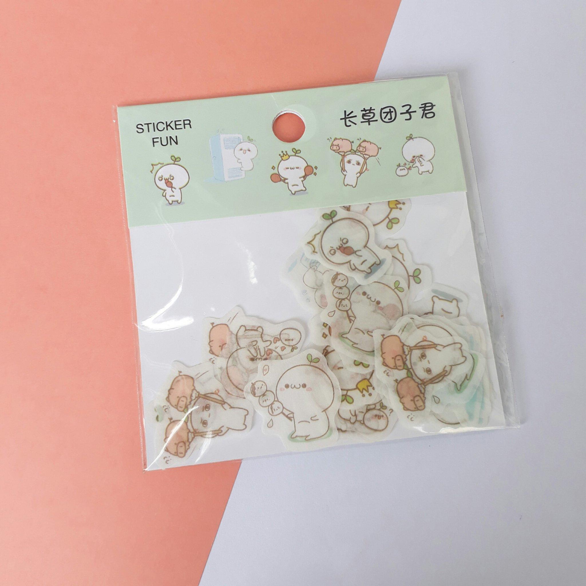 Bộ 32 Sticker Hình Dán Mini Bé Mầm