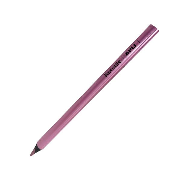 Bút Chì Jumbo Hồng Tím Lilac Metallic - APLI 17515