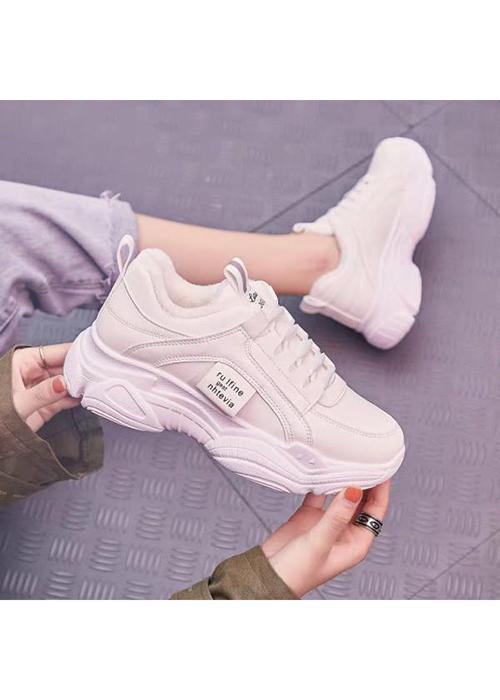 Giày thể thao nữ HAPU đế cao da đẹp S15
