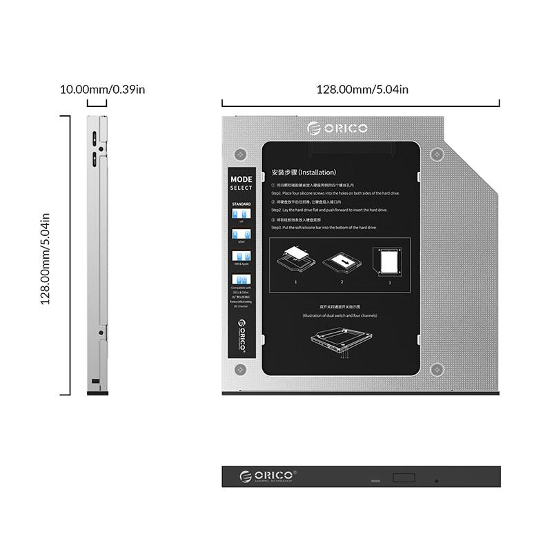 Khay Ổ cứng Laptop (Caddy Bay) mỏng 9,5mm Orico M95SS - Hàng Chính Hãng