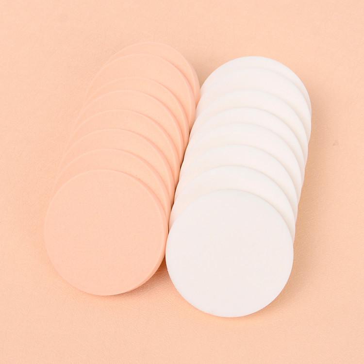 Bộ 16 bông mút đánh phấn hình tròn siêu mềm mịn phong cách Hàn Quốc - MN001 1