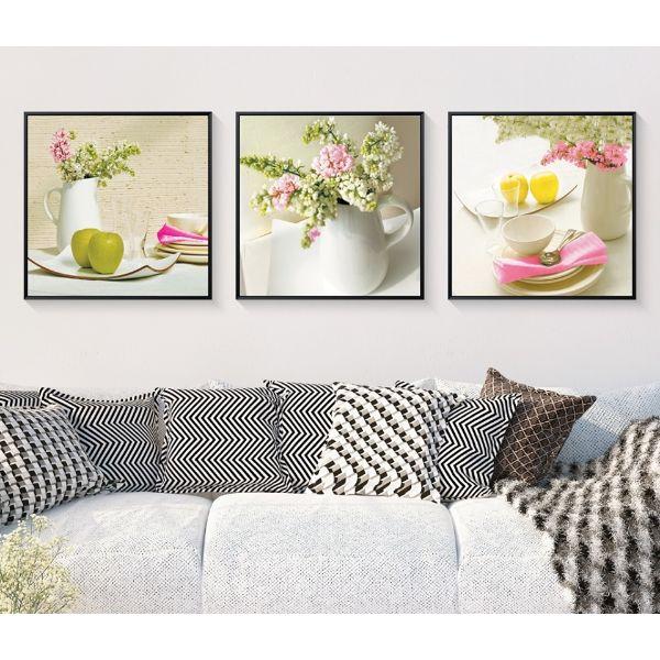 Tranh Trang Trí Lọ Hoa Và Trái Cây - Tranh Canvas Treo Tường