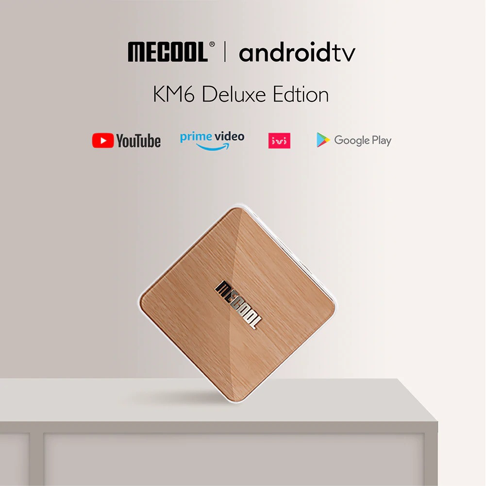 MECOOL KM6 ATV Deluxe Amlogic S905X4 4GB RAM 64GB ROM bluetooth 5.0 5G WiFi6 Android 10.0 TV Box Support Google Assistant 4K Youtube Prime Video AV1 - Hàng nhập khẩu
