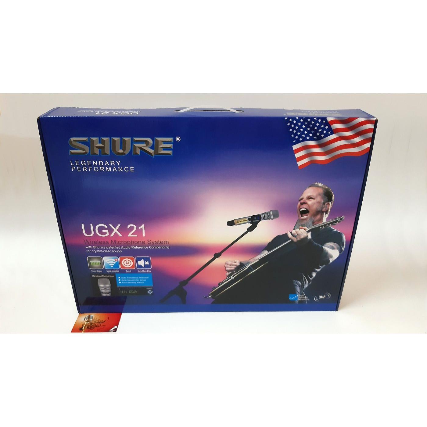 Micro Karaoke Shure UGX21 - Hàng chính hãng