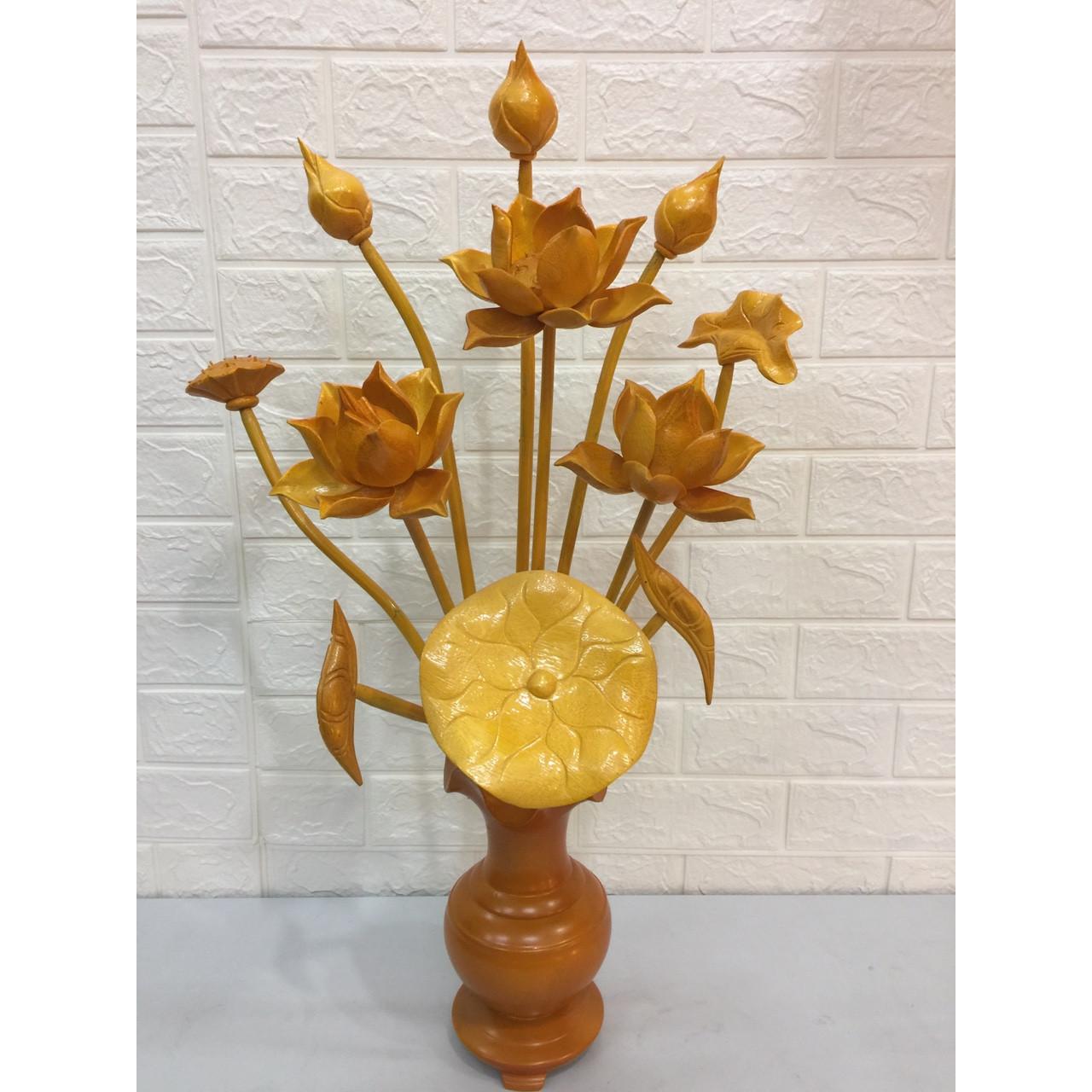 Hoa sen chất liệu gỗ M099
