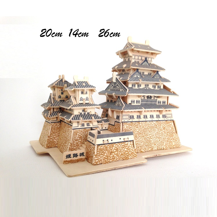 Đồ chơi lắp ráp gỗ 3D Mô hình Lâu Đài Himeji