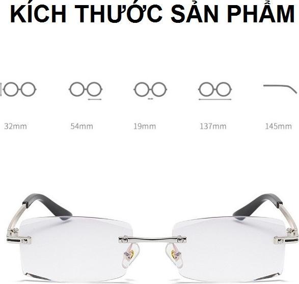 Kính viễn thị lão thị đọc chữ cực sáng và rõ gọng khoan nam tính PKTM_KV4N