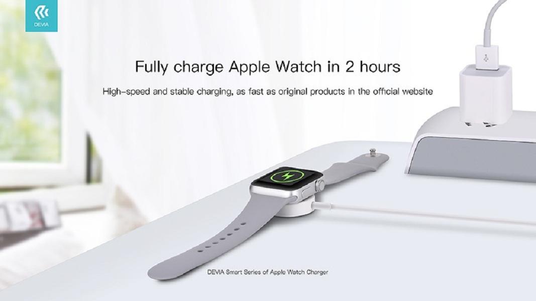 Đế sạc nam châm không dây dành cho Apple Watch - Hàng chính hãng Devia