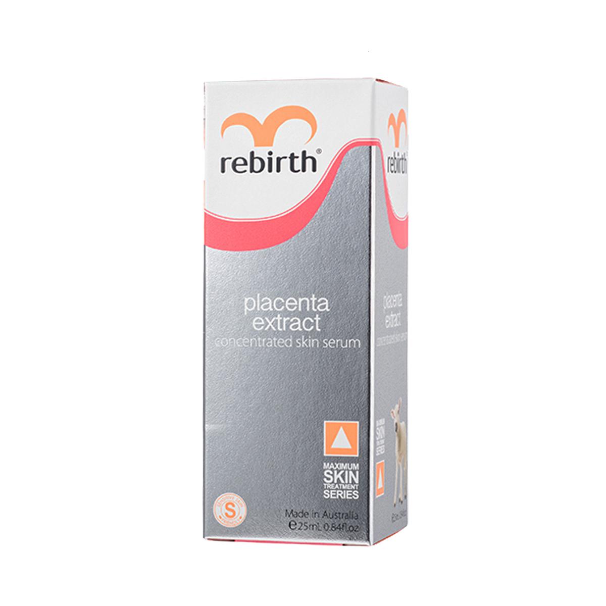 Serum hỗ trợ đặc trị nám từ nhau thai cừu đậm đặc 45% Rebirth chai 25ml