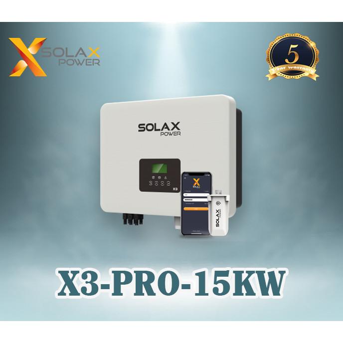 Bộ Inverter hòa lưới điện năng lượng mặt trời SOLAX X3-PRO - 3 pha 15Kw ( DUAL MPPT + WIFI + DC SWITCH + LCD )