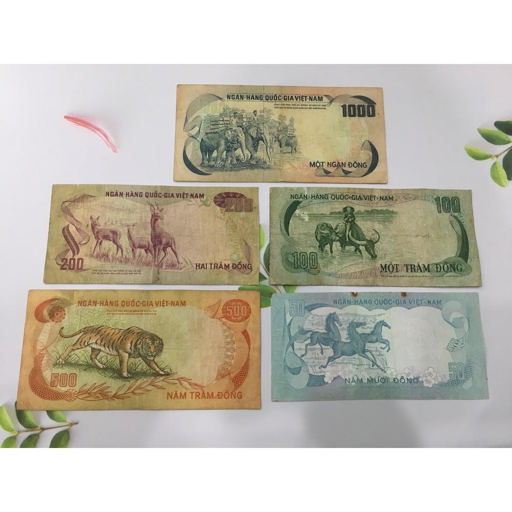 Bộ tiền thú Việt Nam 5 con, sưu tầm tiền xưa thời bao cấp, chất lượng đẹp như hình, tặng phơi nylon bảo vệ tiền