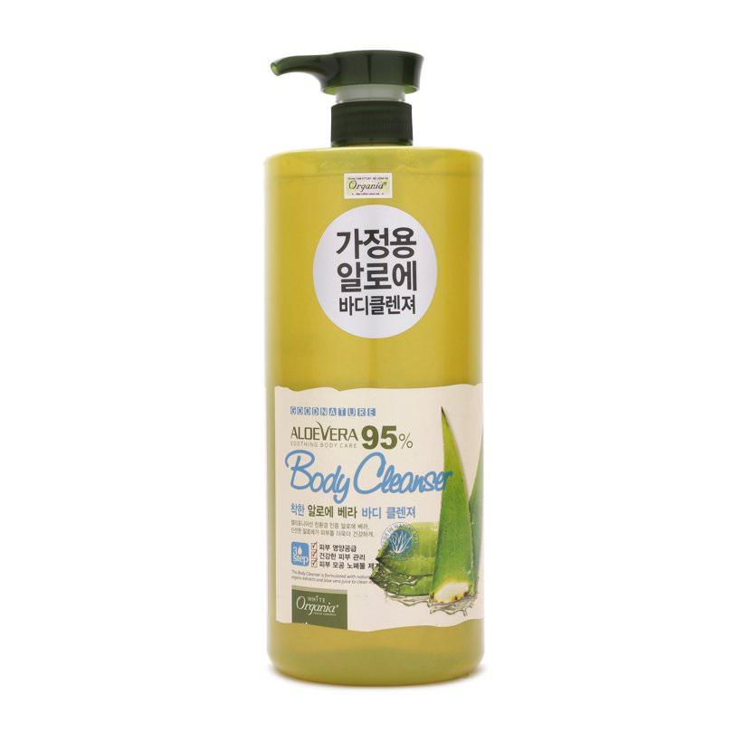 Sữa Tắm Làm Trắng Da Từ Lô Hội Good Nature Aloe Vera 95% Organia (1.5L)