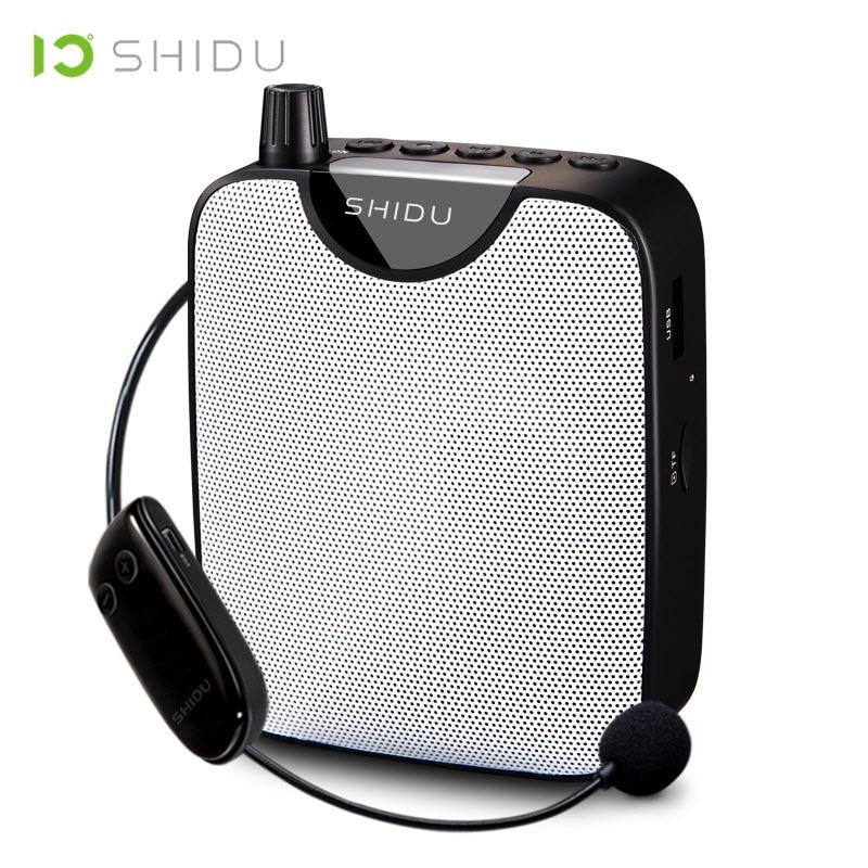 Máy Trợ Giảng Shidu M500 Kèm Micro Không Dây UHF Chống Hú  Công Suất Loa 10W Tích Hợp Cổng AUX, USB Dung Lượng Pin Lớn 1800mAh - Hàng Chính Hãng
