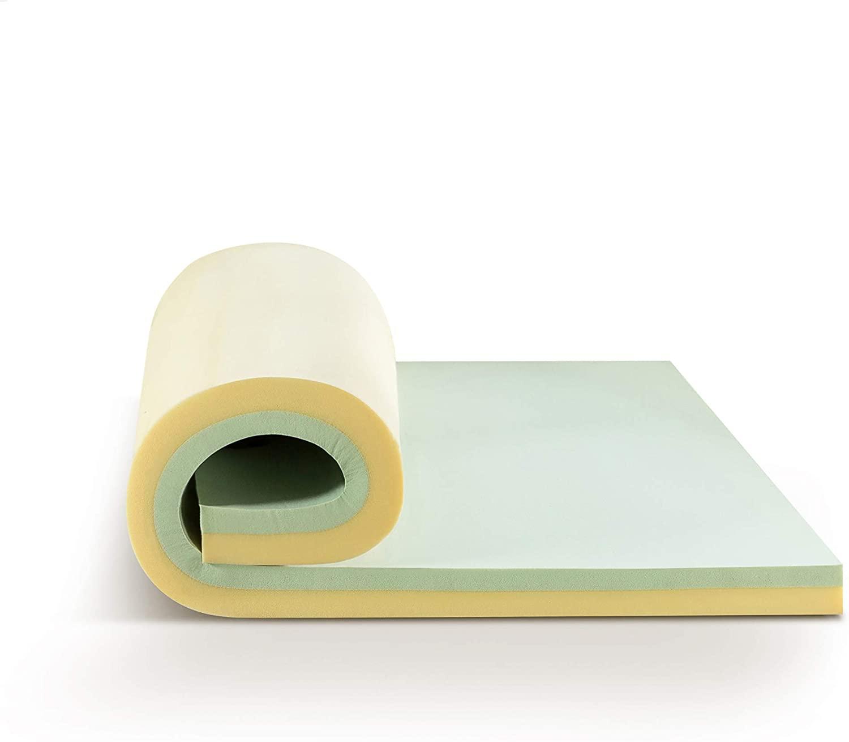Topper Tấm Tiện Nghi Trà Xanh Gel Mát Làm Mềm Nệm Cao Cấp Zinus - Green Tea Memory Foam 180*200*7.5cm