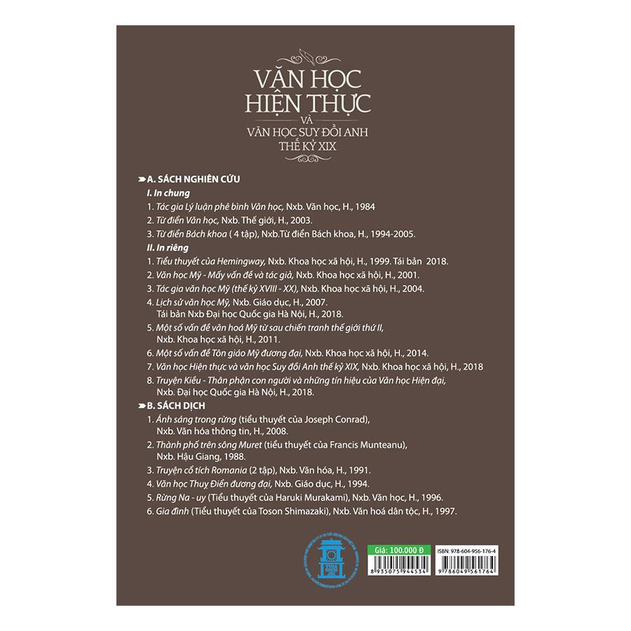 Văn Học Hiện Thực Và Văn Học Suy Đồi Anh Thế Kỷ XIX