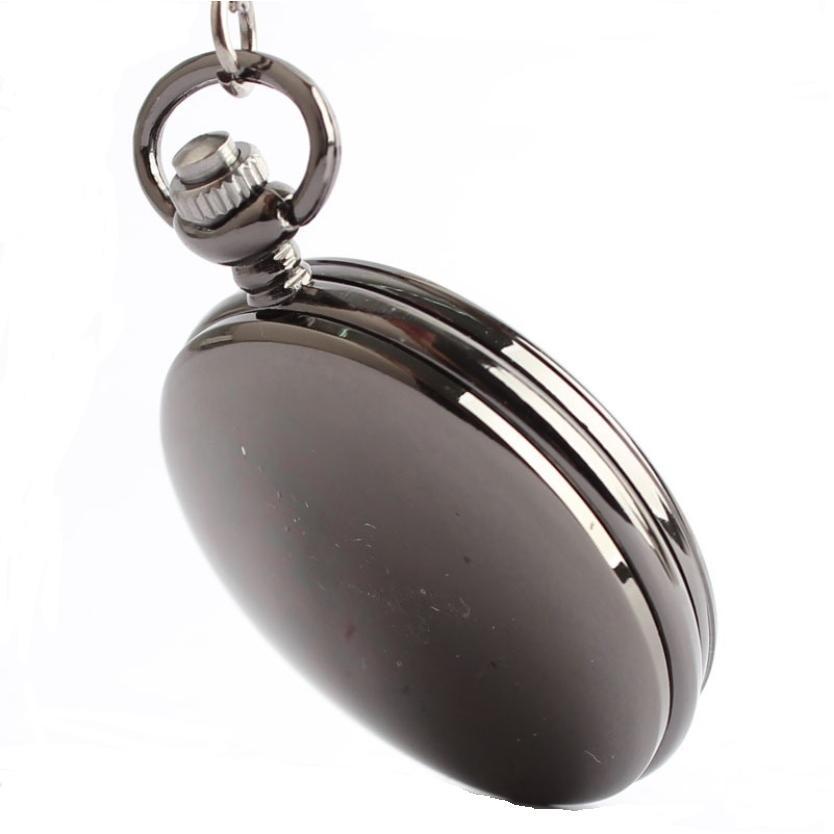 Đồng hồ Quartz dạng quả quýt 3 kim số học trò mạ đen bóng
