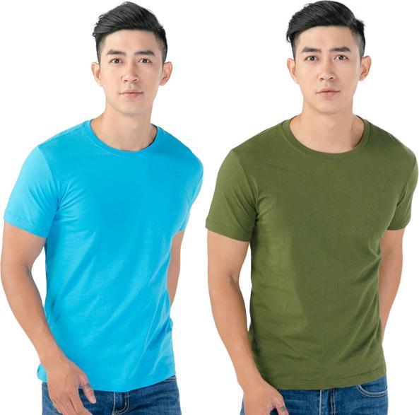 Áo Thun Nam Cổ Tròn Cotton Thoáng Mát MGH179 - Xanh - Rêu - L - S