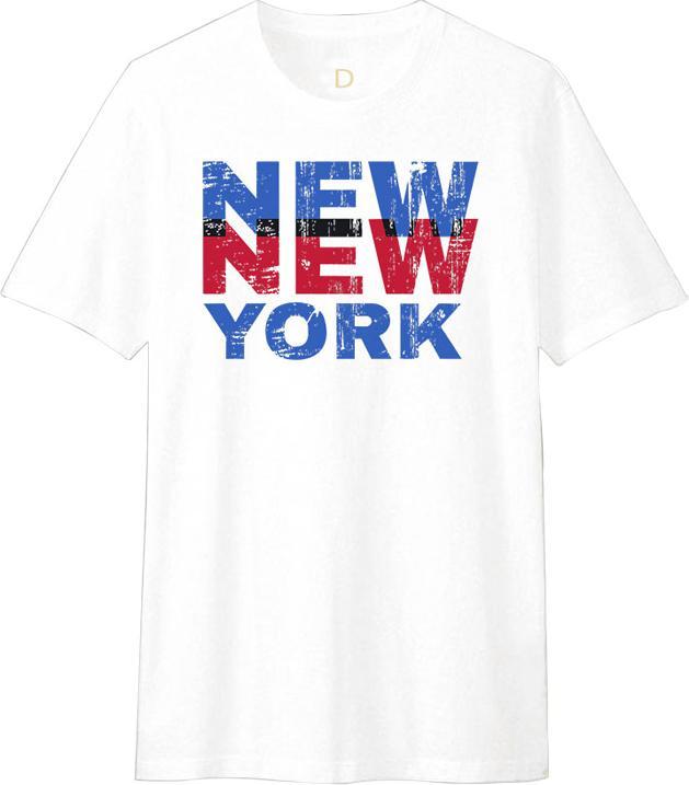 Áo Thun T-shirt Unisex Dotilo New York HM012 - Trắng Size XS