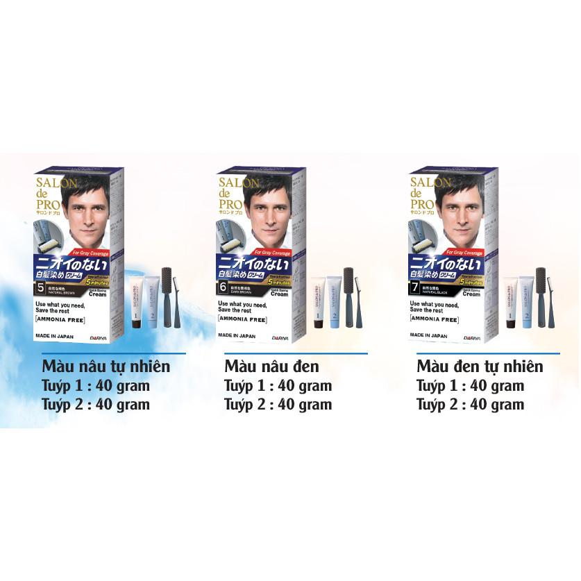 Nhuộm tóc phủ bạc Salon De Pro Dành cho Nam (Made in Japan)