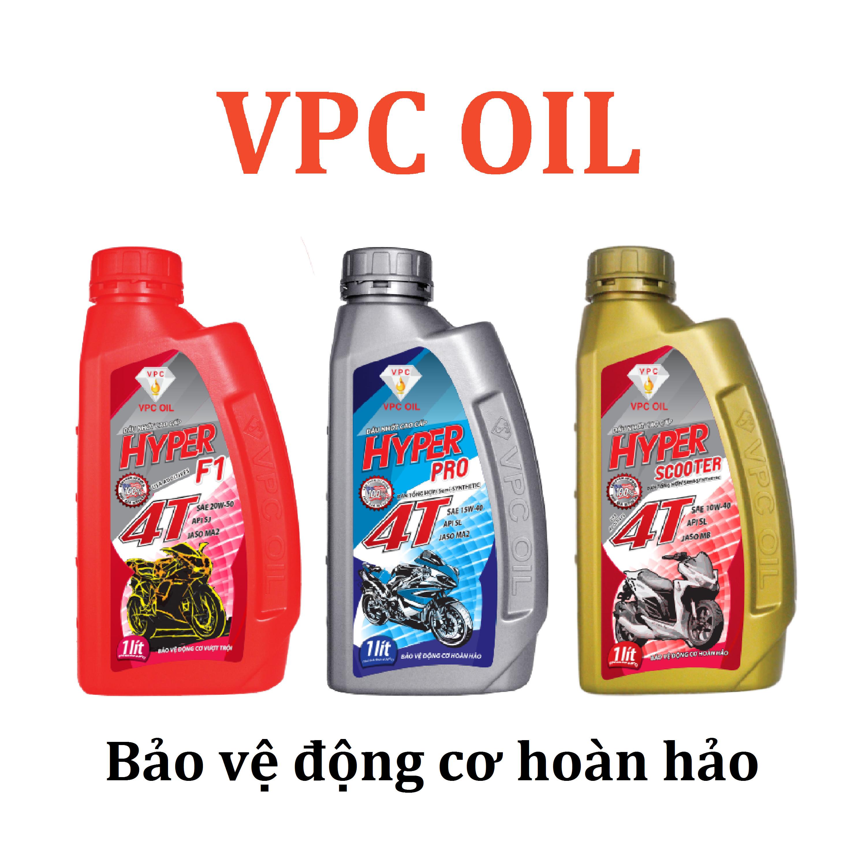 Combo dầu nhớt xe tay ga bán tổng hợp VPC Hyper Scooter 10W40 (0.8L)