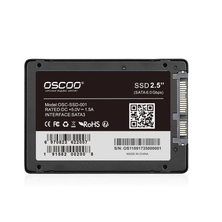 Ổ cứng SSD OSCOO 240GB SATA III 2.5-inch - tốc độ đọc 520MB/s (Đen) HÀNG CHÍNH HÃNG