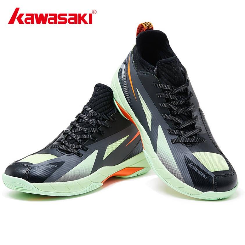 Giày cầu lông kawasaki K365 chính hãng dành cho cả nam và nữ, chuyên nghiệp chống lật cổ chân- tặng túi rút thể thao màu chống thấm nước