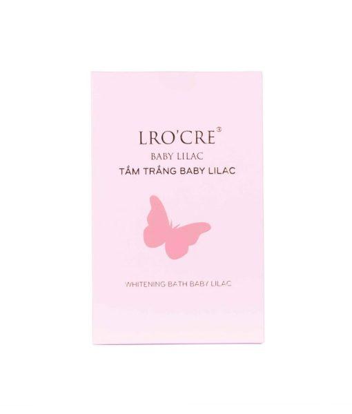 Tắm Trắng Lro'cre BaBy LiLac (Sét 3 gói) giúp da trắng hồng tươi trẻ -  Tặng Kèm 1 Bông Rửa Mặt Bọt Biển
