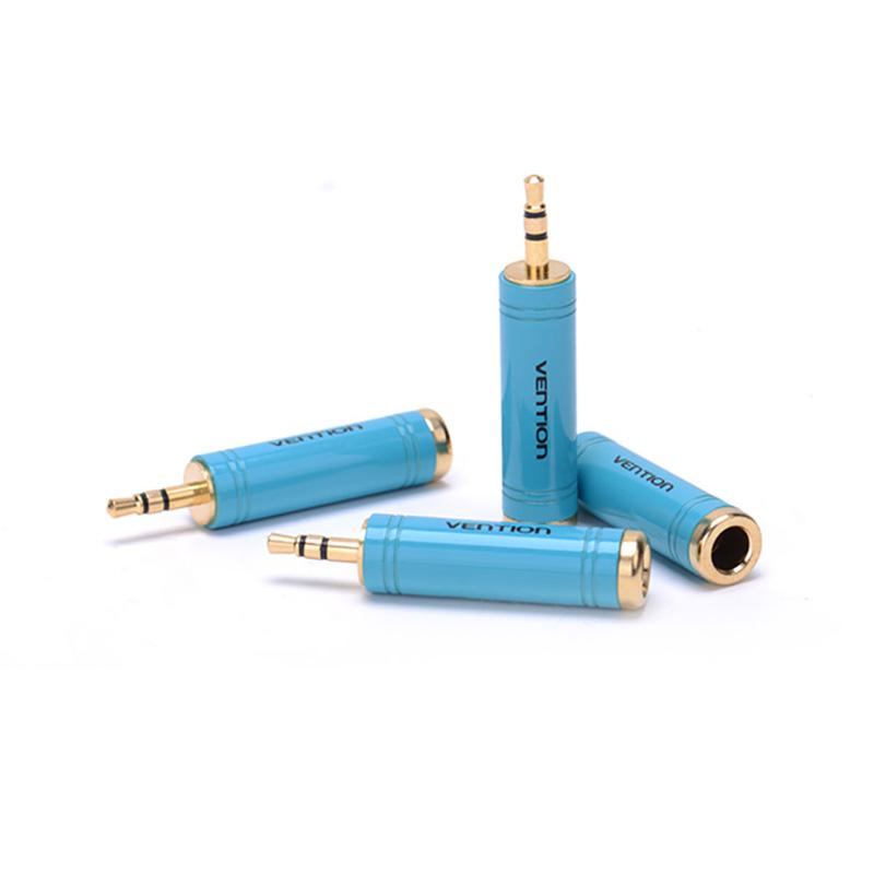 Đầu chuyển Audio 6.5mm (F) sang 3.5mm (M) Vention chuyển đổi 2 chiều VAB-S04-L (1pcs) - hàng chính hãng