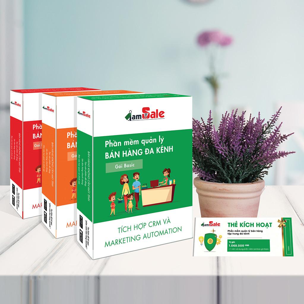 Phần mềm quản lý bán hàng đa kênh iamSale Basic 1 năm
