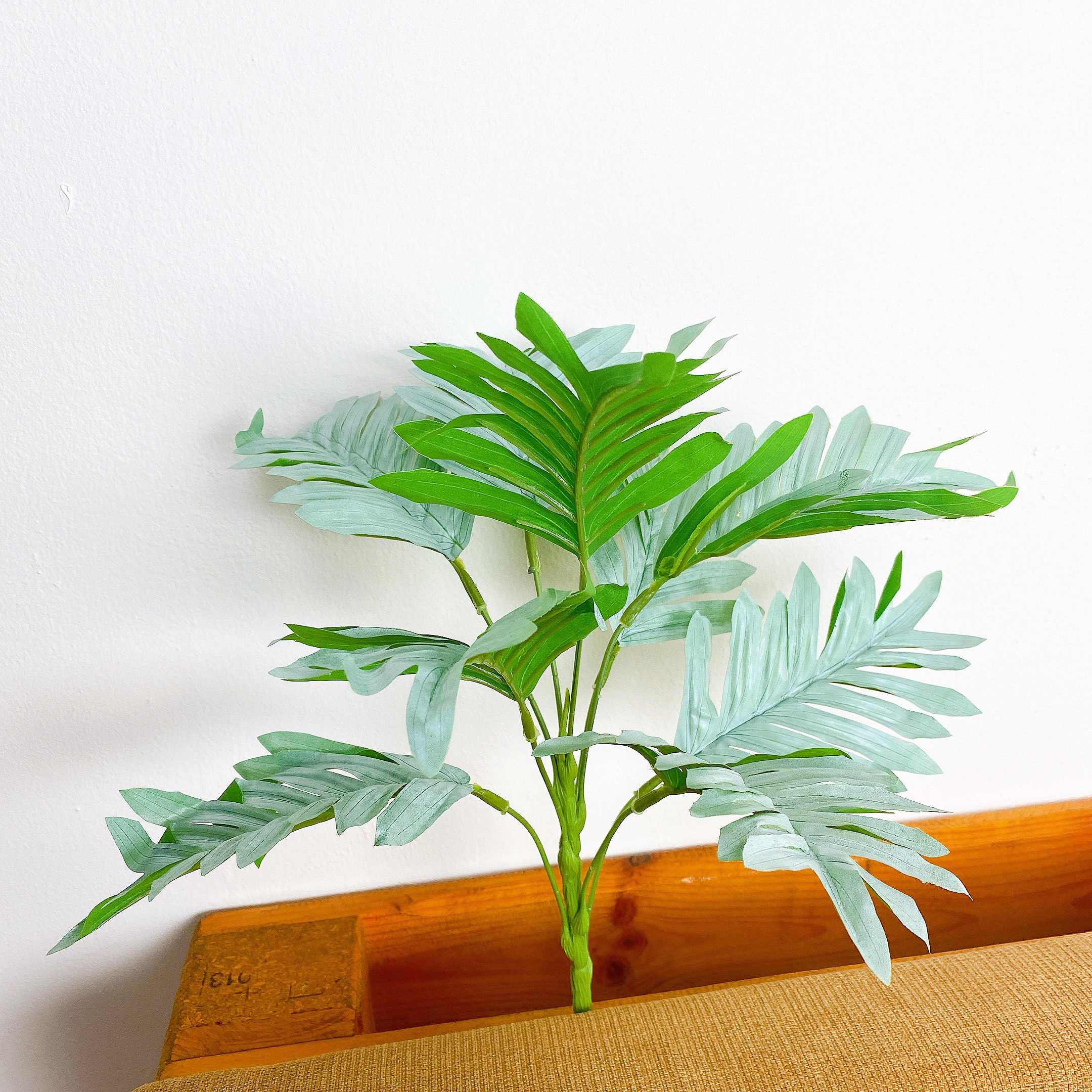 Cây Giả - Cây Lá Xẻ Bạc 35cm
